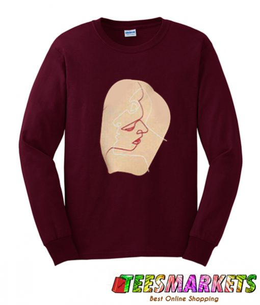 face art sweatshirt