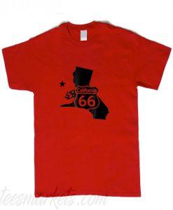 Xeire USA Route 66 Sign California T-Shirt