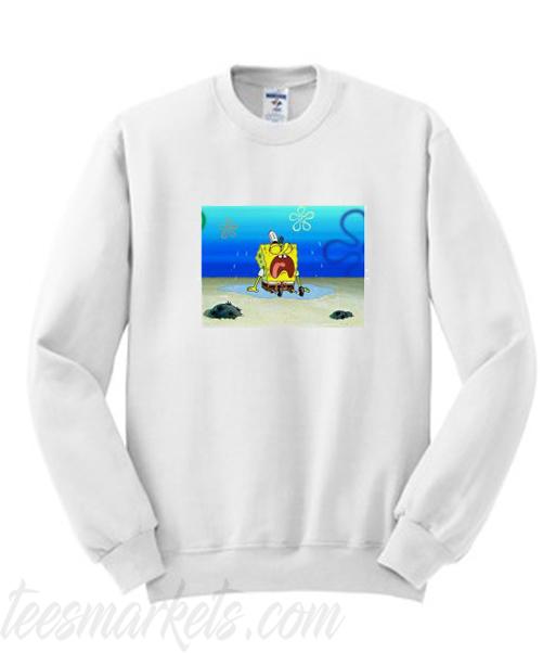 Spongebob Sad Rip Stephen Hillenburg Sweatshirt