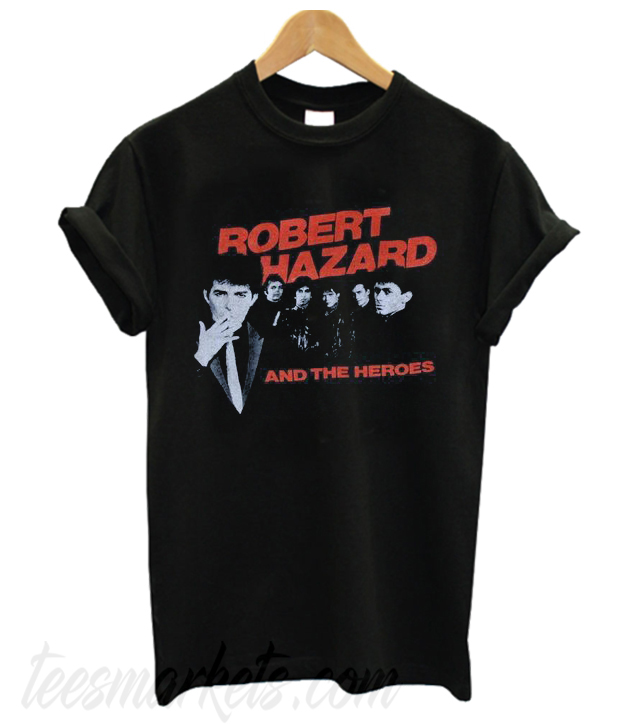 1980's ROBERT HAZZARD & The Heroes vintage concert tour rare original new-wave rock band New t-shirt