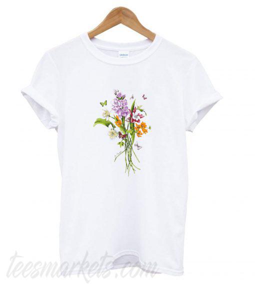 Crystal Flower Bouquet New  T shirt