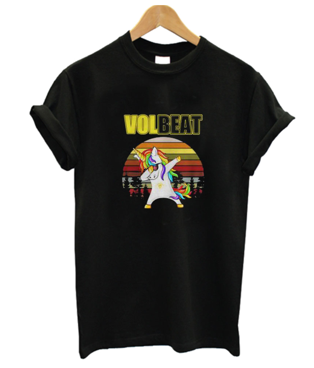 Unicorn dabbing Volbeat retro New T-shirt