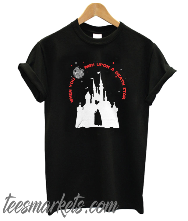 Darth Vader Mickey When You Wish Upon A Death Star New t-shirt