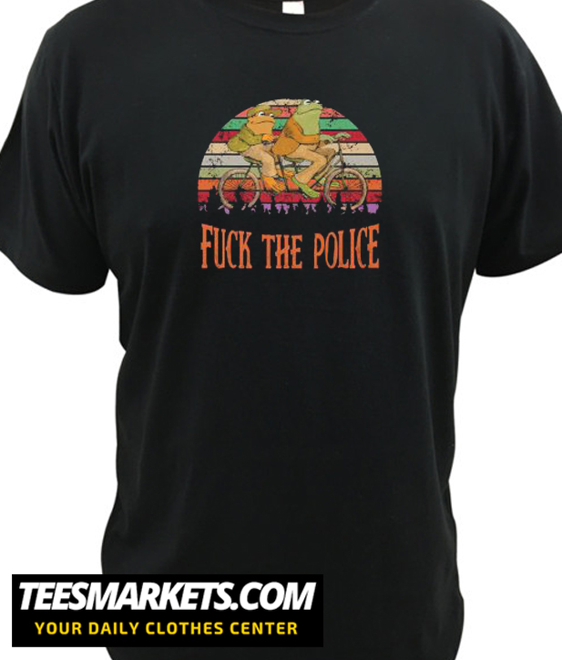 Frog And Toad Fuck The Police Unisex New T shirt
