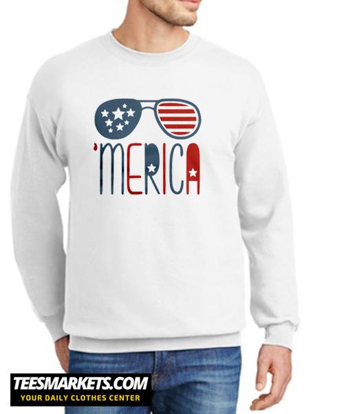 Merica Glasses New Sweatshirt