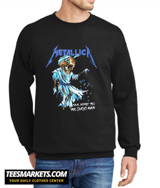 Metallica Their Money Tips Her Scales Again New Sweatshirt