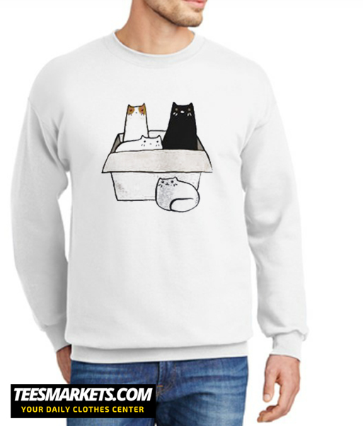 4 Cats in a Box New Sweatshirt