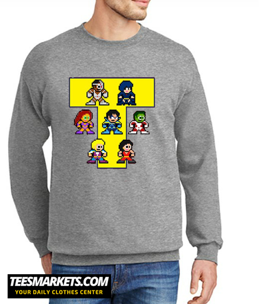 8-Bit NEW TEEN TITANS New Sweatshirt