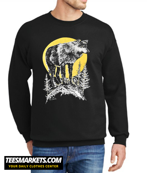 90s Wolf Full Moon New Sweatshirt