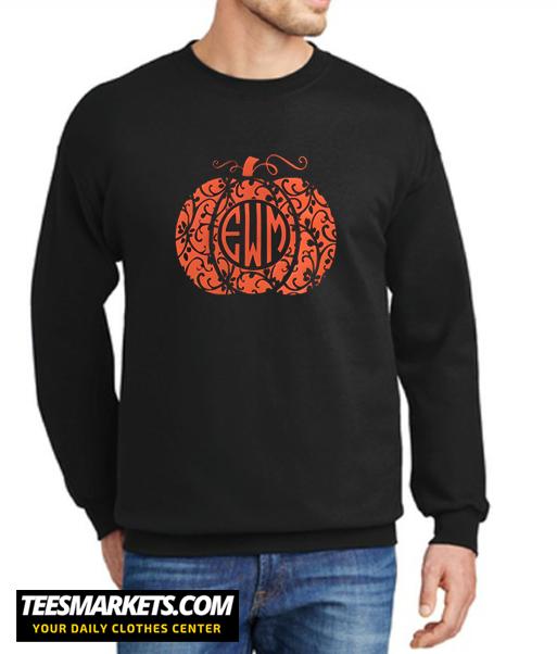 Monogrammed Pumpkin New Sweatshirt