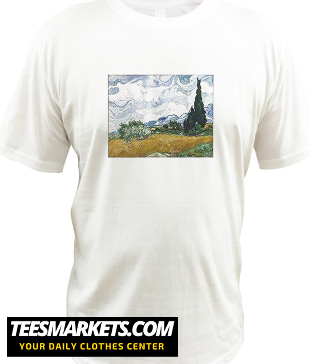Vincent van Gogh Wheat Field with Cypresses New T Shirt