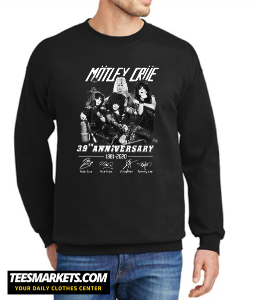 39 Years of Motley Crue Signature Sweatshirt