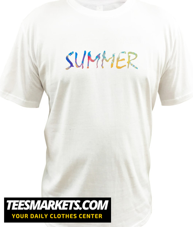 Colorful Summer Word New T shirt