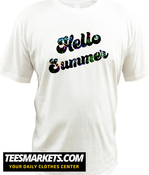 Hello summer Retro Vintage New T shirt